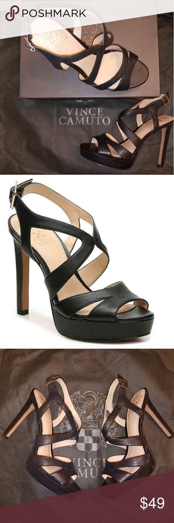 43072e57fb54 New Vince Camuto Black Sandals Stay sassy and chic in the Jenique sandal  from Vince Camuto