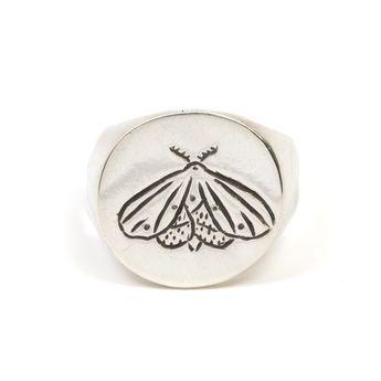 Maddy Moth Signet Ring