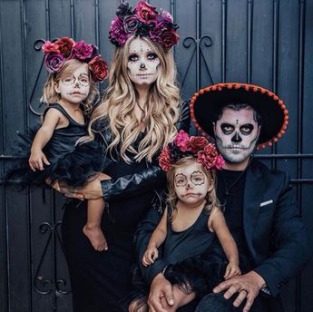 We said goodnight to Halloween and woke up in the Land of the Dead ☠️🥀✨ @taytumandoakley #diadelosmuertos #dayofthedead #iloveplum