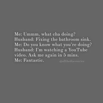 The next generation of #timthetoolmantaylor ovah here... Ahhhh, remember Home Improvement??? 🤩 Feeling like @prichardsonla this morning! 😂 . . . #helearneditonyoutube #homeimprovement #90sflashback #home #diy #house #90s #marriage #husband #honeydolist #youtube #bathroom #meme #funny #memes #funnymemes #humor #quotes