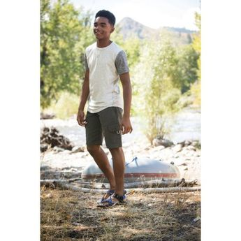 Wrangler Boys' Outdoor 2 Pocket Cargo Short, Size: 14, Gray