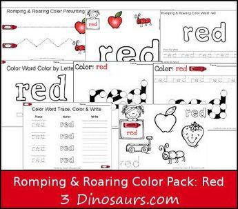 New Romping & Roaring Color Word Packs