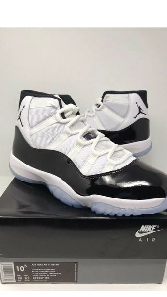 790e1fba 2018 Nike Air Jordan Retro 11 Concord White Black 378037-100 MEN Sz 10.5 #