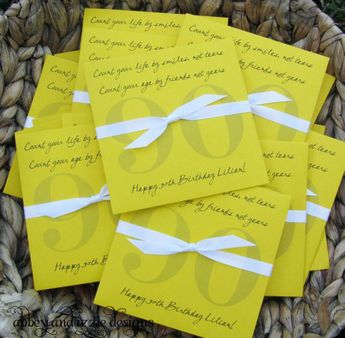Party Favors 90th Birthday By Abbeyandizziedesigns On Etsy 5670