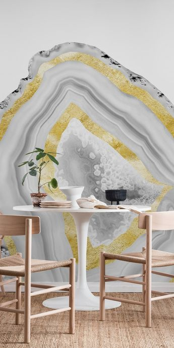 Agate Gold Foil Glam 3 Wall mural