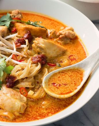 Laksa - spicy coconut curry soup