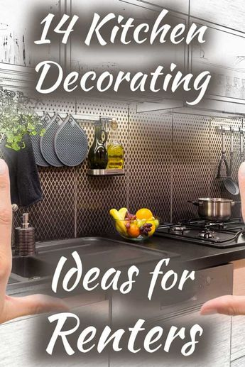 14 Kitchen Decorating Ideas For Renters. Article by HomeDecorBliss.com #HDB #HomeDecorBliss #homedecor #homedecorideas