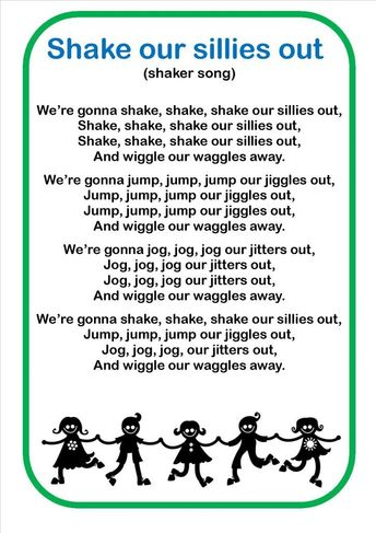 Image result for shake my sillies out song words