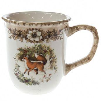 Woodland Stoneware Mug - Fox | Christmas | Woodland