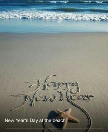 Happy New Year in the sand !