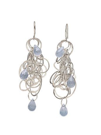 e8572e8bc272ed Tangle Earrings by Heather Guidero - (Silver & Stone Earrings)