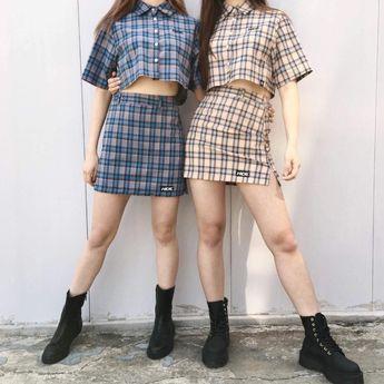 HIDEMini Check Skirt