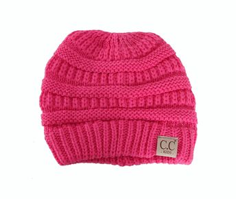 6b677276033 C.C. Beanie Cable Knit Beanie for Kids in Candy Pink YJ847-KIDS-CANDYPINK