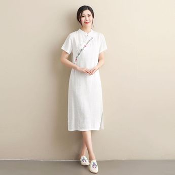 1fbcd218f Women Ethnic Style Linen and Cotton Tradtional Hanfu Dress – Tradtional  Hanfu Type