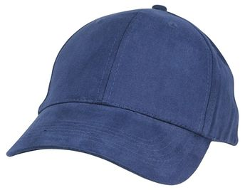 Unisex Fine Brushed Cotton Cap Adjustable Hat with 6 Panels - Structured -  Navy Blue - 098177b19d2f
