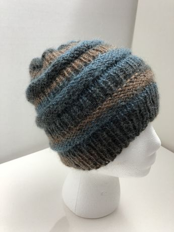 532618cacba Hand-knitted Luxuriously mens mohair hat