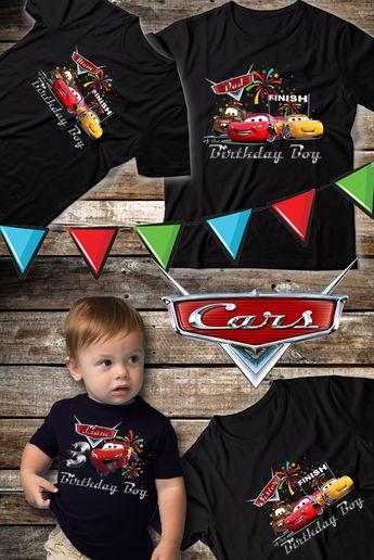 Disney Cars 3 Birthday Party Boy Shirt Ideas 2nd 2