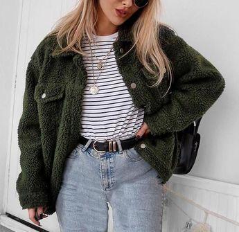 Fiona Faux Lambs Wool Jacket