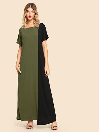 e9387d32ffea tie waist midi dress in green