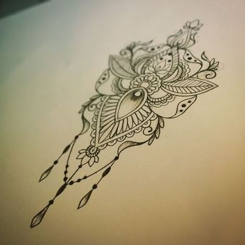 Mandala Illustration Tattoo Art Pen And Ink Drawing 5