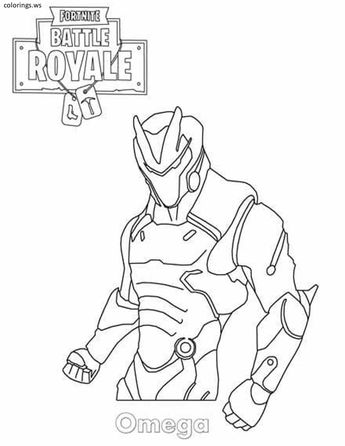 Fortnite Battle Royale Coloring Page Mezmer Skin Season 8 We Are