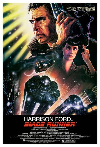 Blade Runner (1982) annonçait le risque des manipulations génétiques, et plus largement d'un capitalisme malade, violent et fascisant. La musique de Vangelis, le charme original de Sean Young, le doute autour de Harrison Ford (réplicant ou non ?), tout cela a concouru au prestige croissant du film. (Télérama, Octobre 2017)