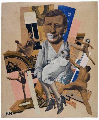 "Hannah Höch - ""El padre"" (1920, collage, 34 x 27,5 cm, Galerie Berinson, Be..., #Berinson #collage #Galerie #Hannah #Höch #padre"