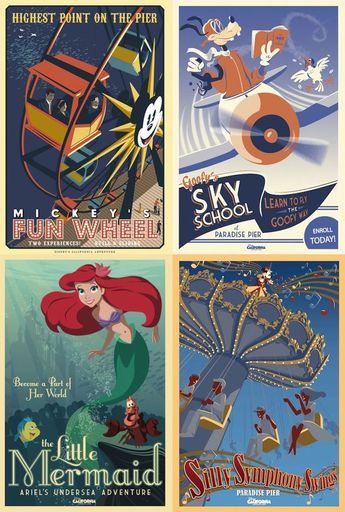 California Adventure posters