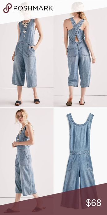 dda67bc228 🎉HP🎉 Lucky Brand Chambray Crossback Jumpsuit Super cute Denim Chambray  jumpsuit by Lucky Brand