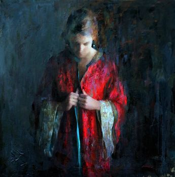 Mia Bergeron - Emerge. Oil on Canvas