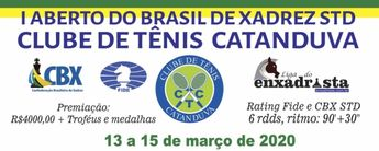 Enxadrista | I ABERTO DO BRASIL DE XADREZ STD DO CTC – 13 a 15/03