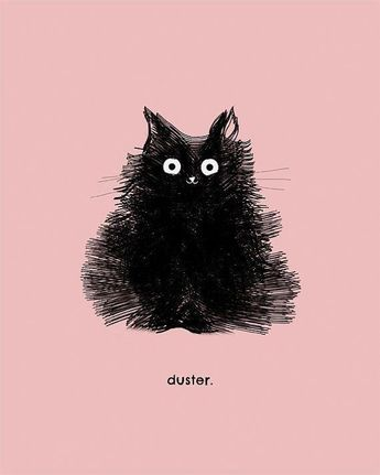Black Cat Art Print Illustration Cute Cat by TheLonelyPixel More #CatCute #blackcats
