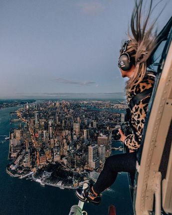 """Travel & Lifestyle Couple on Instagram: """"I have always been very adventurous from sky diving, cliff jumping to scuba diving. I love the feeling of adrenaline. Flying over NYC in an…"""""""