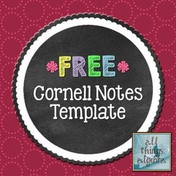 FREE Cornell Notes Template Have you used Cornell Notes to help students with executive functioning? If so, here's a free download.