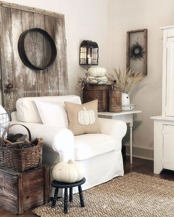 30+ Gorgeous Country Farmhouse Decor Ideas For Living Room