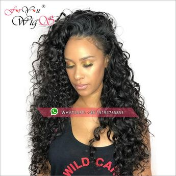 250 Density Brazilian Curly Lace Front Human Hair Wigs Heavy