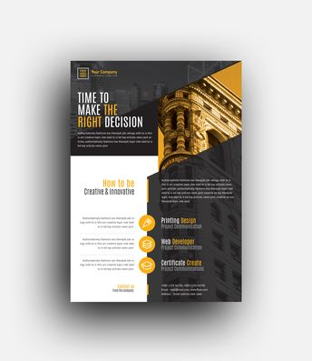 Morpheus Professional Corporate Flyer Template - Graphic Templates
