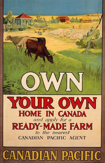 Website: Several posters promoting settlement in Canada. Canadian Immigration Poster