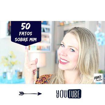 Bom dia! Atendendo a vários pedidos me rendi aos 50 Fatos Sobre Mim rs. Pra quem não conhece essa tag no vídeo eu conto um pouco sobre mim com 50 fatos que marcaram e marcam a minha vida. Os 50 Fatos Sobre mim é uma tag muito divertida e um ótimo jeito de vocês me conhecerem melhor =) E se vocês se identificaram com alguma coisa comente abaixo ( vou adorar saber). Para ver o vídeo é só clicar no link aqui na bio  #50fatossobremim #organizesemfrescuras #blogger #youtuber #youtube