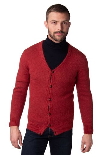 0e0338b4 () PEOPLE Cardigan Size L Mohair & Wool Blend Y Neck Made in Italy RRP