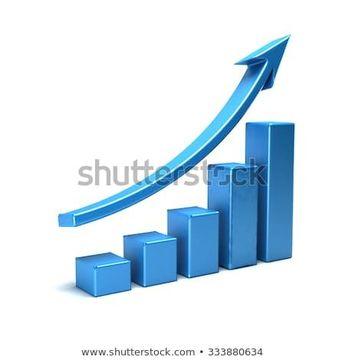 3d business growth bar graph curve  #business #bar #graph #finance #dollar #success #financial #growth #3d