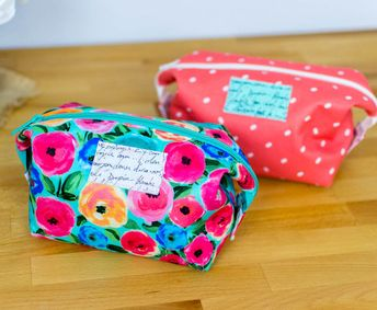 tutorial: Cute Corners Cosmetic Bag