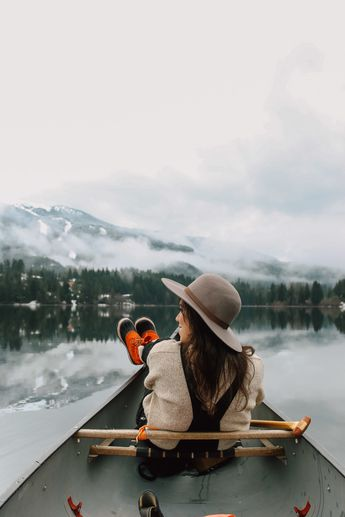 Winter Canoeing at Alta Lake near Whistler, B.C., Canada   Local Wanderer - pin curated by @poppytalk for @explorecanada