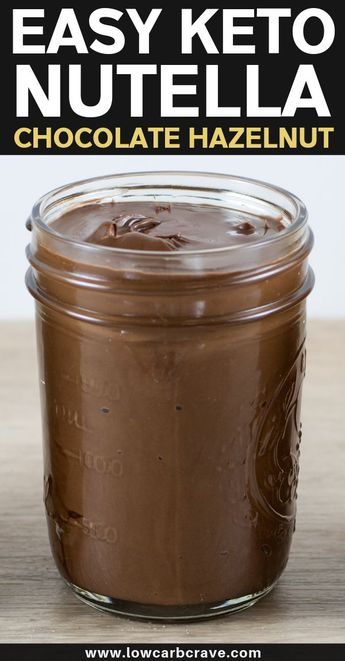 Low Carb Keto Homemade Nutella Recipe (Sugar-Free). This easy chocolate hazelnut recipe is the best homemade version of Nutella! The perfect topping for low carb treats, snacks or desserts. #lowcarbrecipes #sugarfreerecipes #ketorecipes