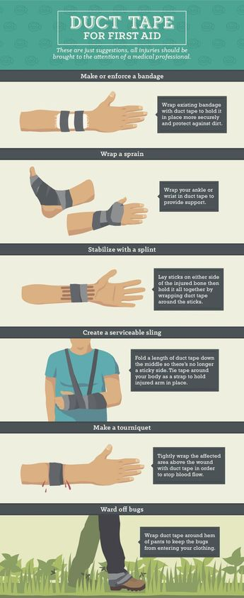 Stuck on Survival: 25 Uses for Duct Tape