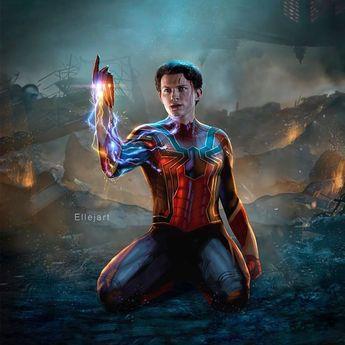 "The Comic Fan on Instagram: ""❓What If Spider-Man Was The One❓ Would you have been even more sad? Follow @NumOneFan for #DailyArt - - - Art by @ellejart - - - #NumOneFan…"""
