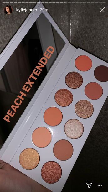 Kylie Peach Palette Extended