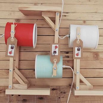 Cans turned into a friendly lamp collection by ILIÜI