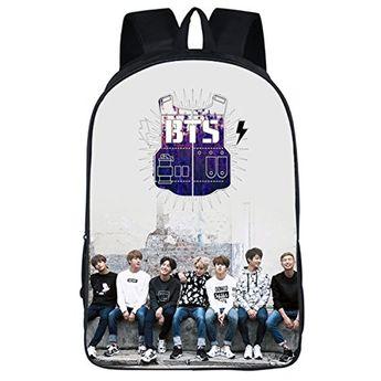 98319c3425b5 Buy JUNG KOOK Kpop BTS GOT7 Backpack School Bag Bangtan Boys Messenger Bag  online
