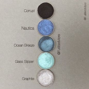 Makeup Geek some blue and cool shades by Futilities and More. Pinterest: @tugbabulut98